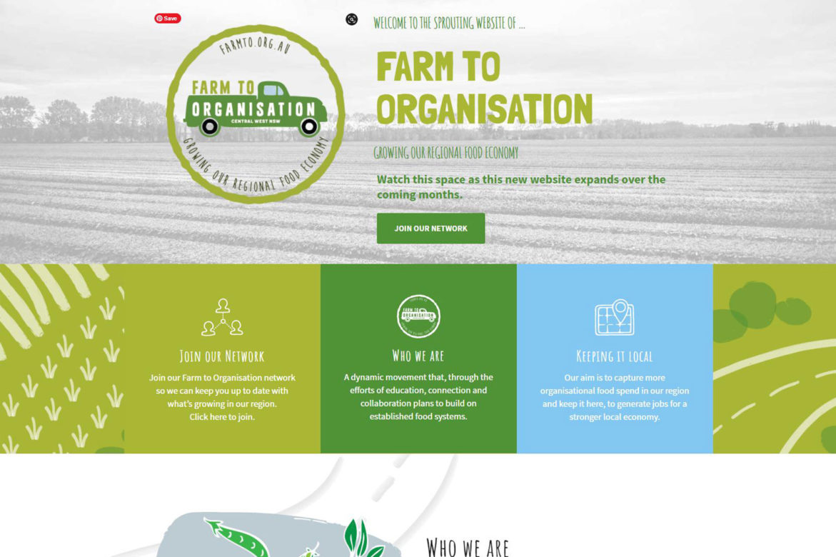 Farm to Org website design