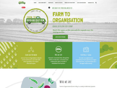 Farm to Org website design